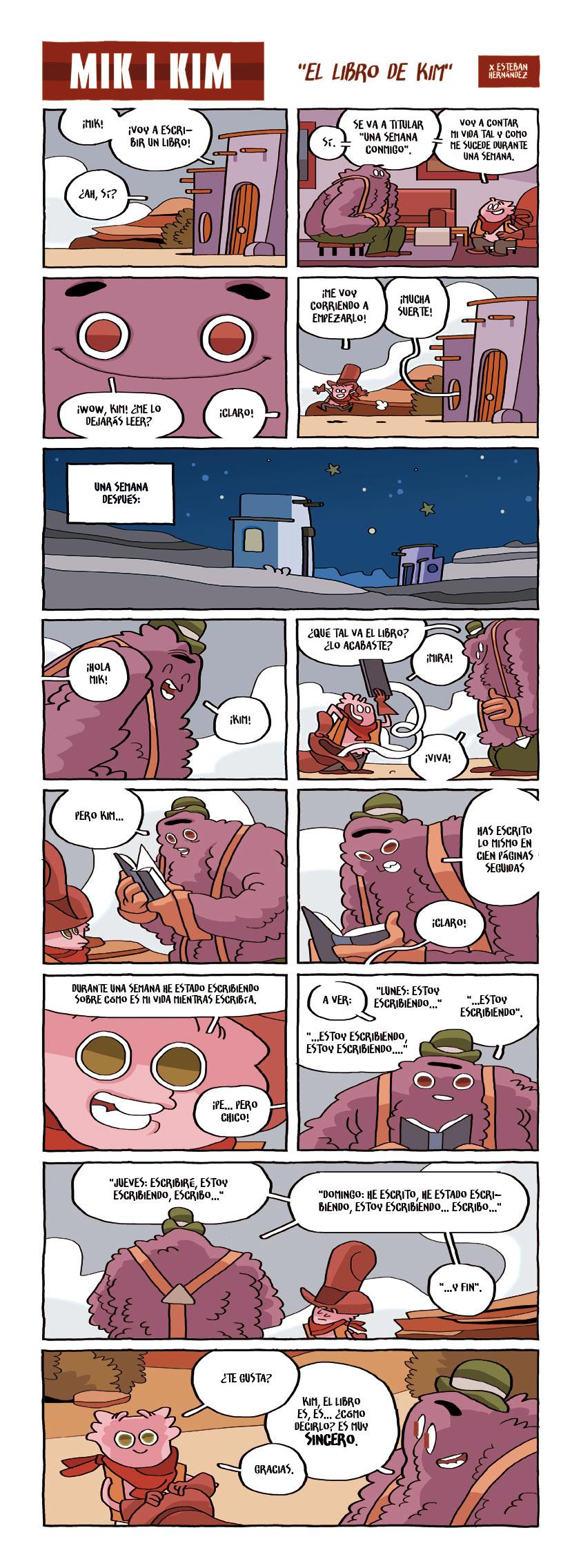 015 · El libro de Kim - Mik i Kim - webcomic - Esteban Hernandez